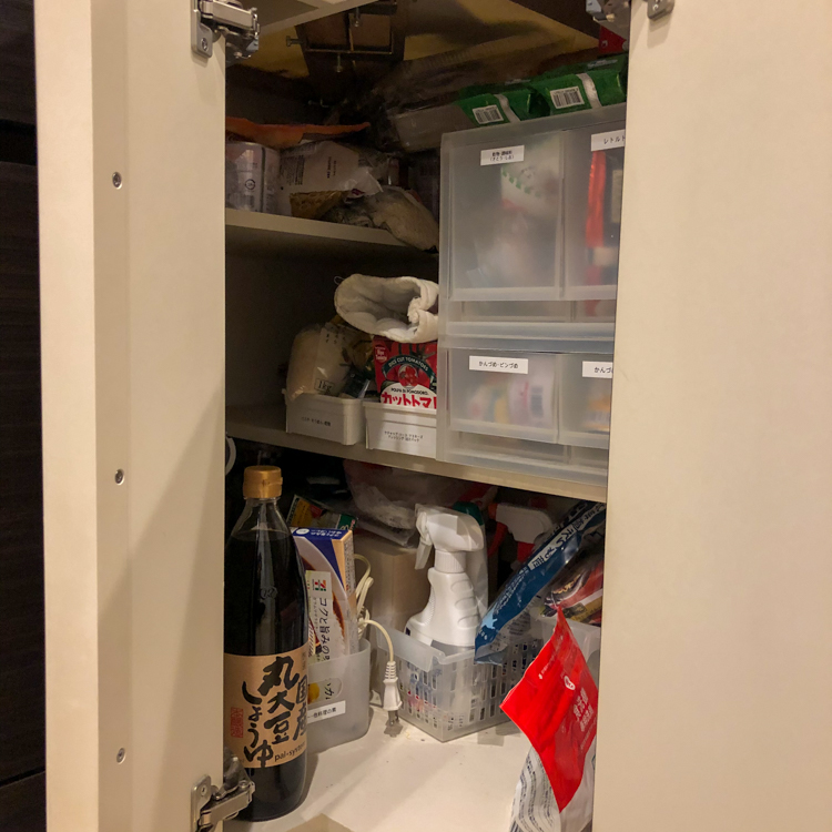 L型キッチンコーナー収納