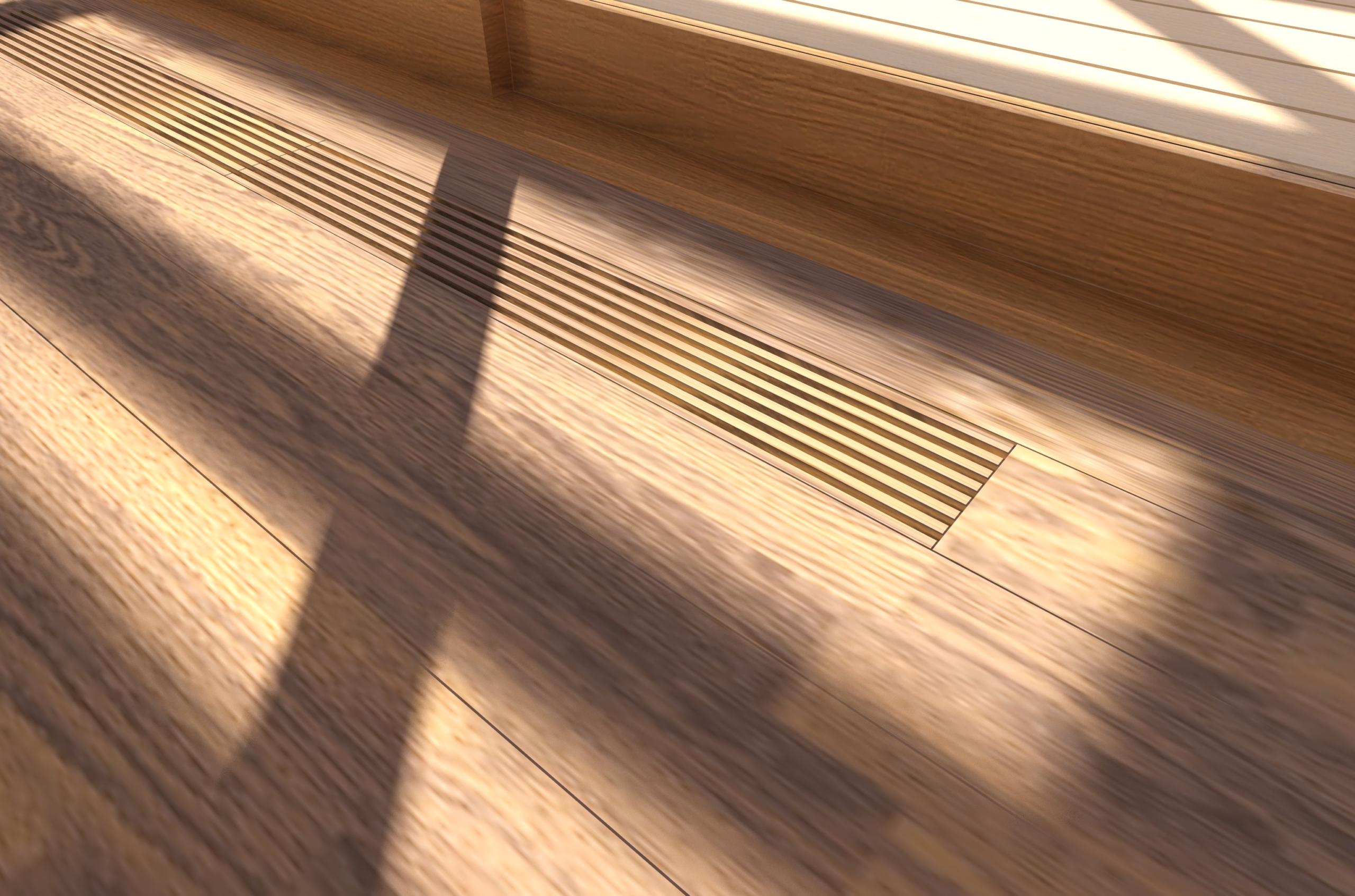 床ガラリの設置イメージ