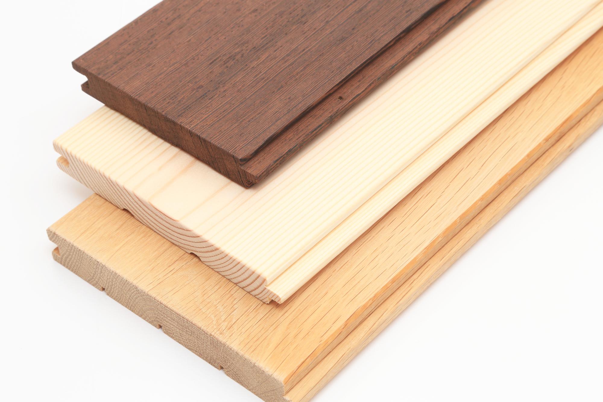 柾目のフローリング材